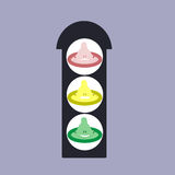 Traffic light of health protection Royalty Free Stock Photo