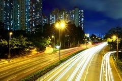 Traffic light on highway Stock Photography