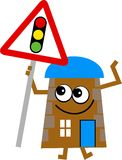 Traffic light house royalty free illustration
