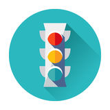 Traffic light icon. Flat isolated vector trendy Royalty Free Stock Photos