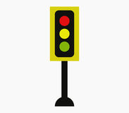 Traffic light icon illustrated Royalty Free Stock Photography