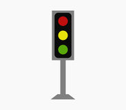 Traffic light icon illustrated Royalty Free Stock Photo