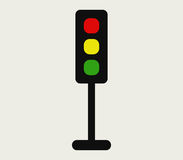 Traffic light icon illustrated Stock Photography