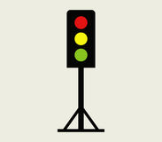 Traffic light icon illustrated. On a white background royalty free illustration