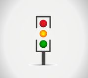 Traffic light icon Stock Image