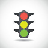 Traffic light icon. Royalty Free Stock Photos