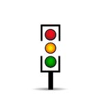 Traffic light icon Royalty Free Stock Images