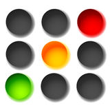 Traffic light icons isolated on white. Green, yellow, red light. Icons. Traffic lamps, semaphores. - Royalty free vector illustration Royalty Free Stock Photography