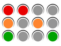 Traffic light icons, traffic lamp illustrations – Transportati Stock Image