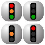 Traffic light icons, traffic lamp illustrations – Transportati Stock Photo