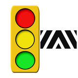 Traffic light illustrated Stock Photo