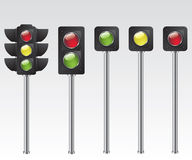 Traffic light illustration Stock Image