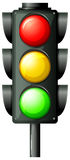 Traffic light. Illustration of the traffic light on a white background Royalty Free Stock Photos