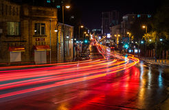 Free Traffic Light In The Night City, Vladivostok Russia. Royalty Free Stock Image - 83978826