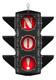 Traffic light with the inscription NO! Stock Photo