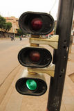 Traffic light at the intersection of Lomé, Togo Royalty Free Stock Photo