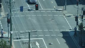 Traffic Light Intersection Timelapse stock footage