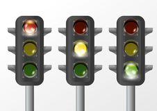 Traffic Light Isolated Stock Photos