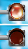 Traffic Light Isolated Royalty Free Stock Image