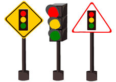 Traffic Light. Isolated vector for your design Royalty Free Stock Photo