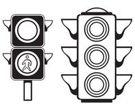 Traffic light royalty free illustration