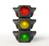 Traffic light. Isolated on a white background Royalty Free Stock Image