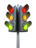 Traffic light isolated on white background Stock Photo