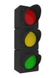 Traffic Light isolated on white Stock Image