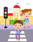 Traffic light kid. Illustration of traffic light kid Stock Images
