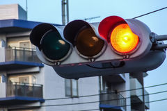 Traffic light in Kyoto, Japan Royalty Free Stock Photo