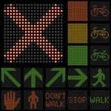 Traffic light LED small set Stock Image