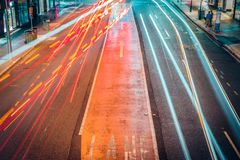 Traffic light lines on road royalty free stock photos