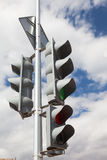 Traffic light with lit green light Stock Image