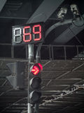 Traffic light in low key Stock Images