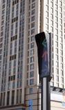 Traffic light in modern city Royalty Free Stock Image