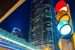 Traffic light in modern city Stock Photography