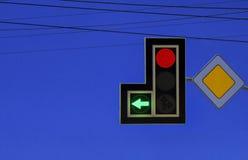 Traffic light. Modern LED traffic light against blue clean sky royalty free stock photos