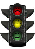 Traffic light of mood Royalty Free Stock Images