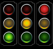 Traffic Light Night Royalty Free Stock Image