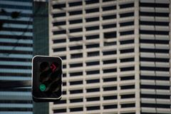 Traffic Light No Right Turn Go Straight stock images