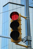 A Traffic Light. In NYC. The lights have  special blinds to increase the light visibility on a sunny day Royalty Free Stock Photos