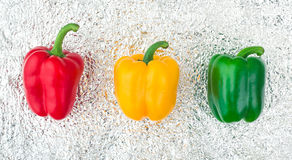 Free Traffic Light Of Colored Peppers. Stock Photos - 86007913