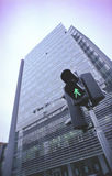 Traffic light and office building Stock Image