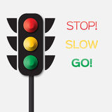Traffic light. Origami Red, yellow, green lights - Go, wait or slow, stop. Paper cut International Traffic Light's Day. Applique Vector design illustrations Stock Image