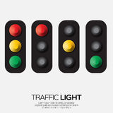 Traffic light. Origami Red, yellow, green lights - Go, wait or slow, stop. Paper cut International Traffic Light's Day. Applique Vector design illustrations Royalty Free Stock Images