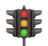 Traffic Light. Over white background, easy to isolate Stock Images