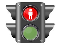Traffic light with pedestrian Stock Photo