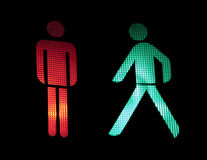 Traffic light of pedestrians Stock Images