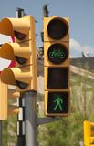Traffic light for pedestrians and bicycles Royalty Free Stock Images