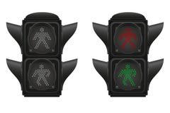 Traffic light for pedestrians vector illustration Stock Photo